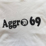 Aggro 69 Trojan head (White & Black)